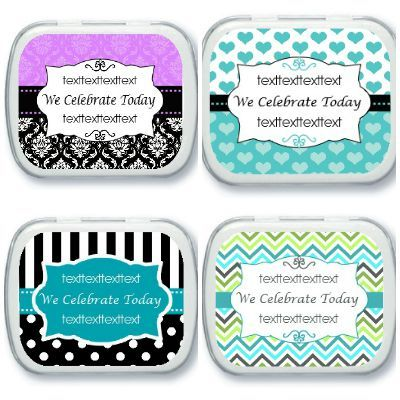 Personalized candy favors - wedding favors - birthday party favors - Quince - Sweet 16 - 50th Birthday - 75th Birthday - 80th Birthday