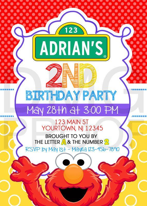 Sesame Street Elmo Abby Cookie Monster or Big Bird Birthday