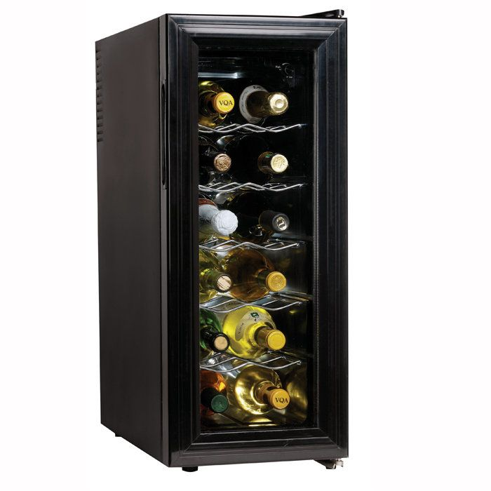 12 Bottle Slim Countertop Wine Cooler Wine Cellar Wine Cooler