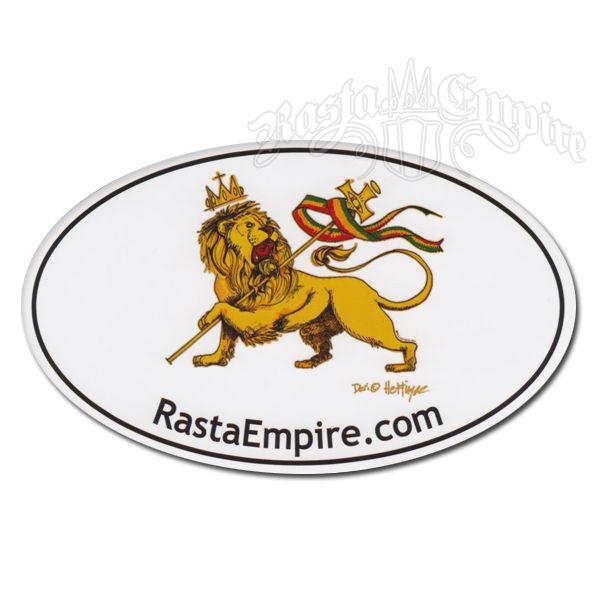 Rasta empire conquering lion of judah sticker rastaempire