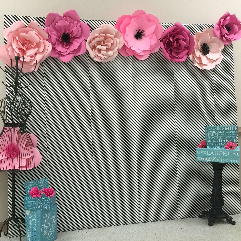 Decora o flores decora o festa de menina pinterest - Decorar con papel ...