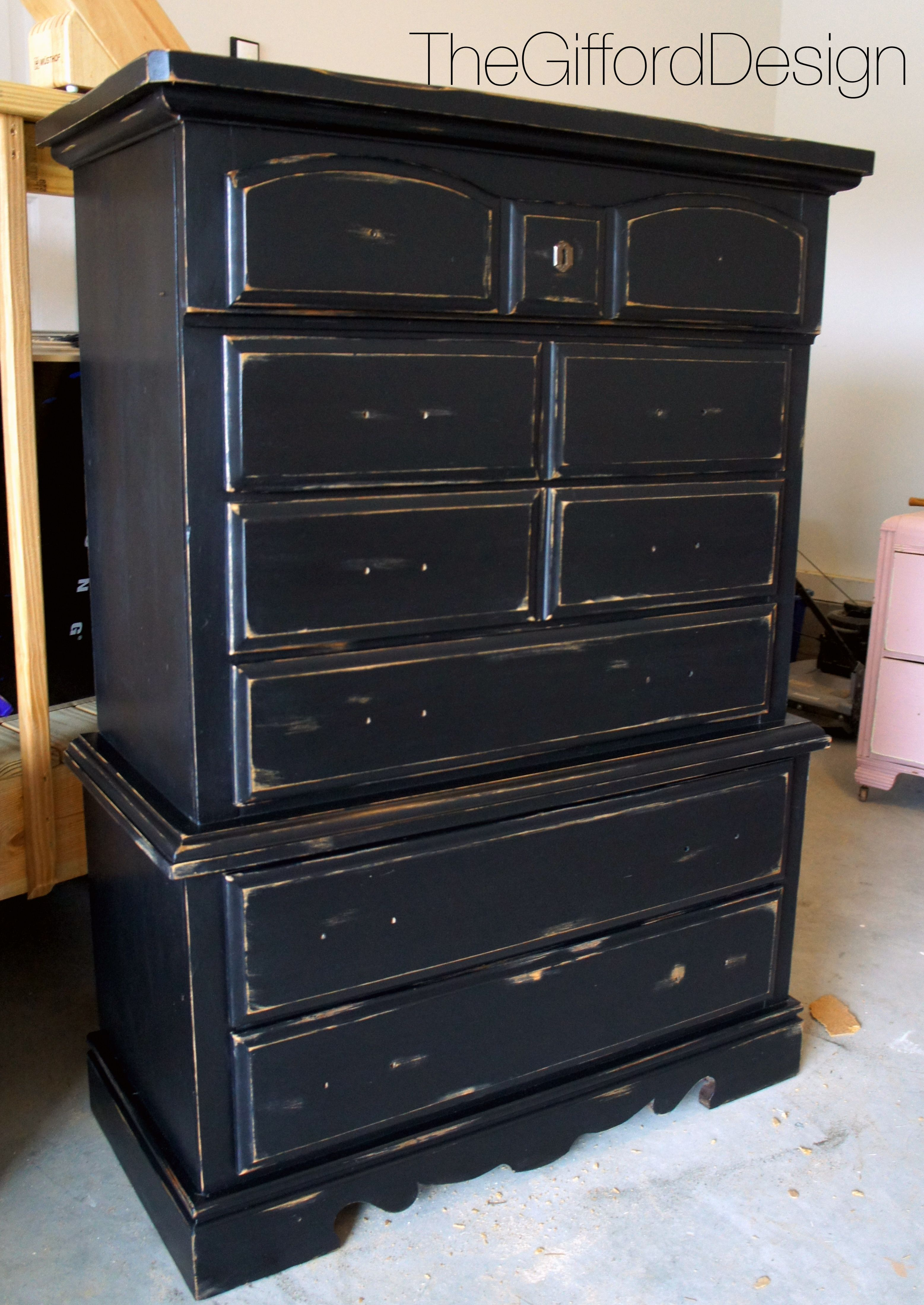Black Gold Distressed Dresser Thegifforddesign Com