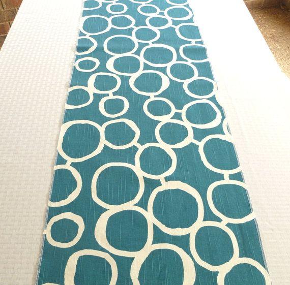 Genial Bluegreen Table Runner Turquoise Table Runner By HomeMakings