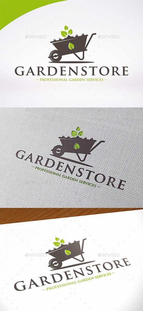 Garden Store Logo Design Template Vector logotype
