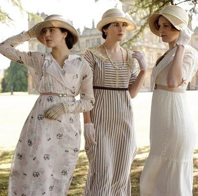 When I watch Downton Abbey, I spend most of my time lusting after the clothes. Too true.