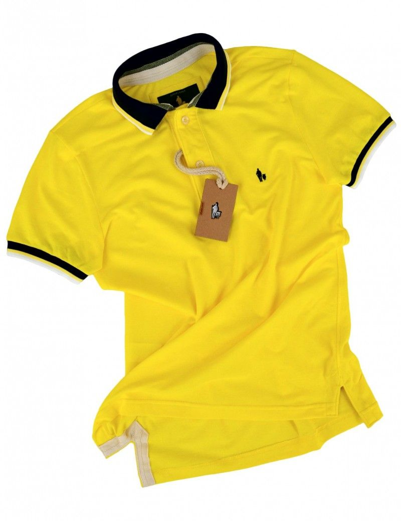 6a06ac43a8 Kit Camisa Polo Tal Pai Tal Filho Gola e Punho Listrado (Amarelo Gema)