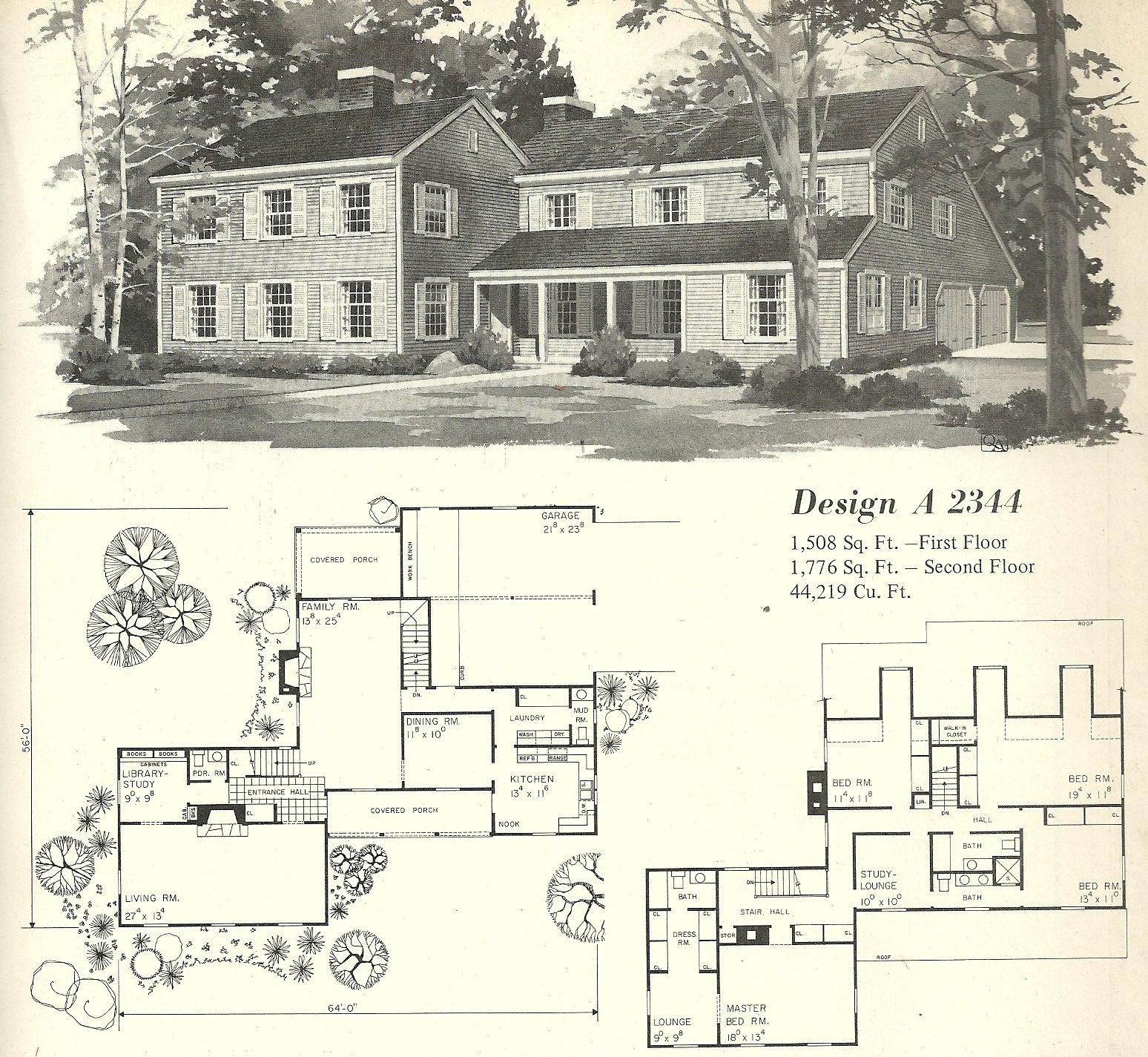 Vintage house plan vintage house plans 1970s farmhouse variations posted on floor - Old farmhouse house plans model ...