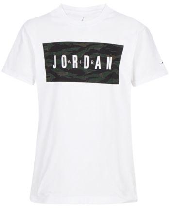 c7784cc3ba87 Jordan Big Boys Logo-Print Cotton T-Shirt - White XL (18 20)