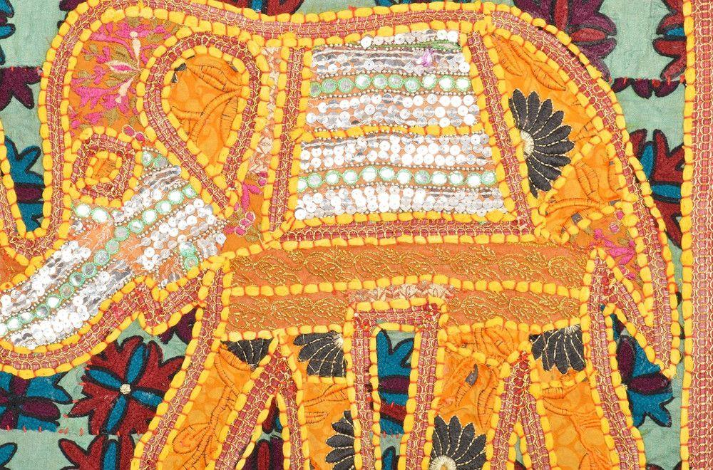 Indian Tapestry Hippie Mandala Elephant Wall Decor | Elephant wall ...