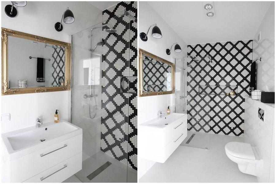 Mała Czarno Biała łazienka Jak Ją Zaaranżować Dekorady