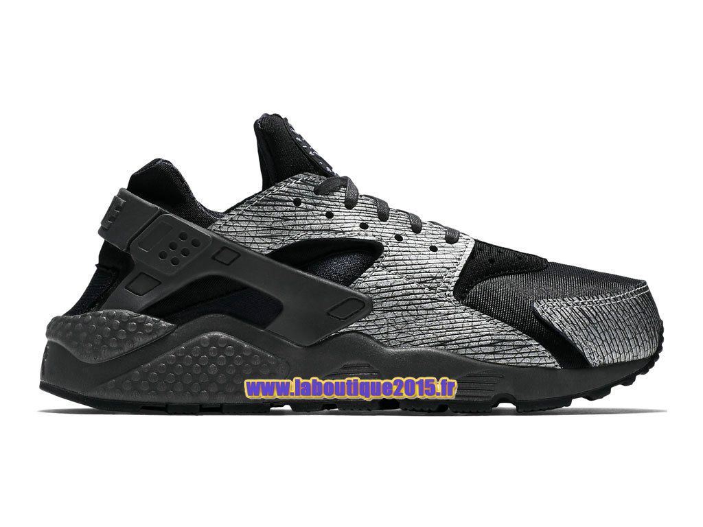 Officiel Nike Air Huarache Run Premium , Chaussure Nike Running Pas Cher  Pour Homme Noir/