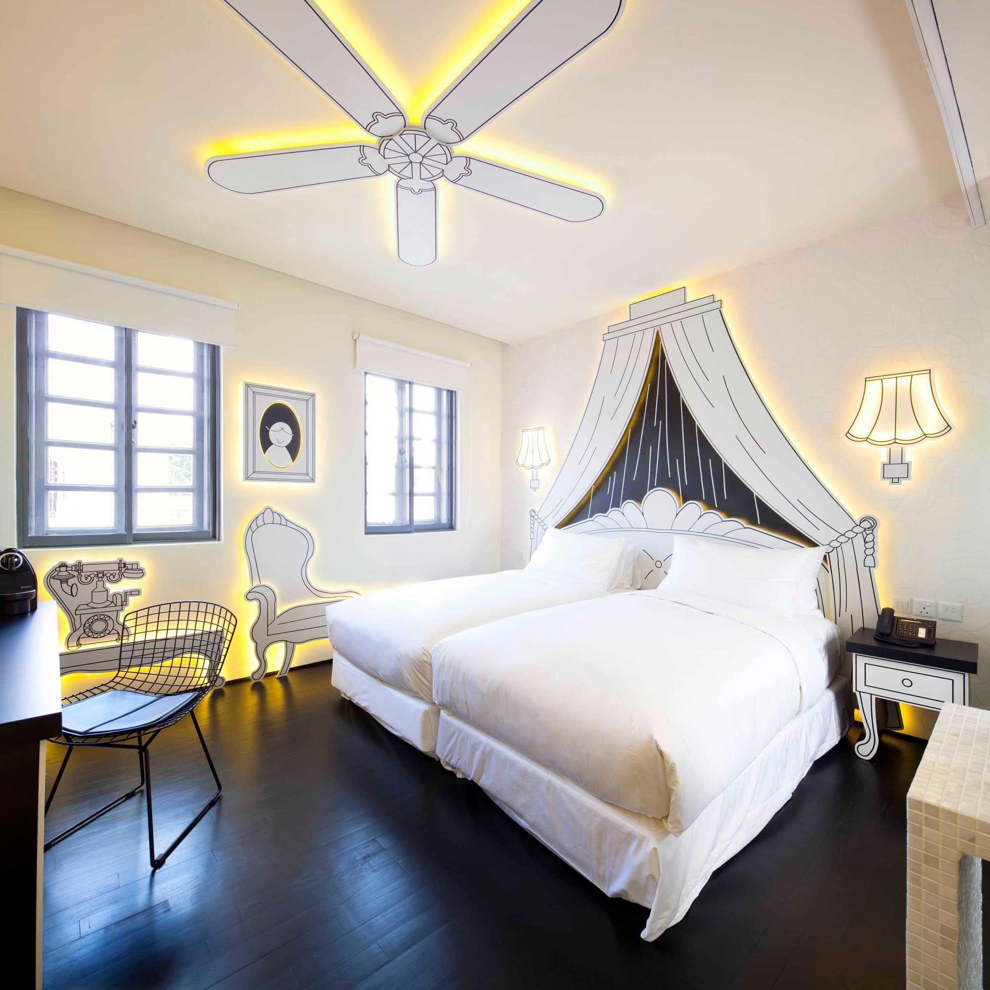 hotel bedroom lighting. Wanderlust Hotel #artluxestyle #stylecierge #luxepassport Bedroom Lighting