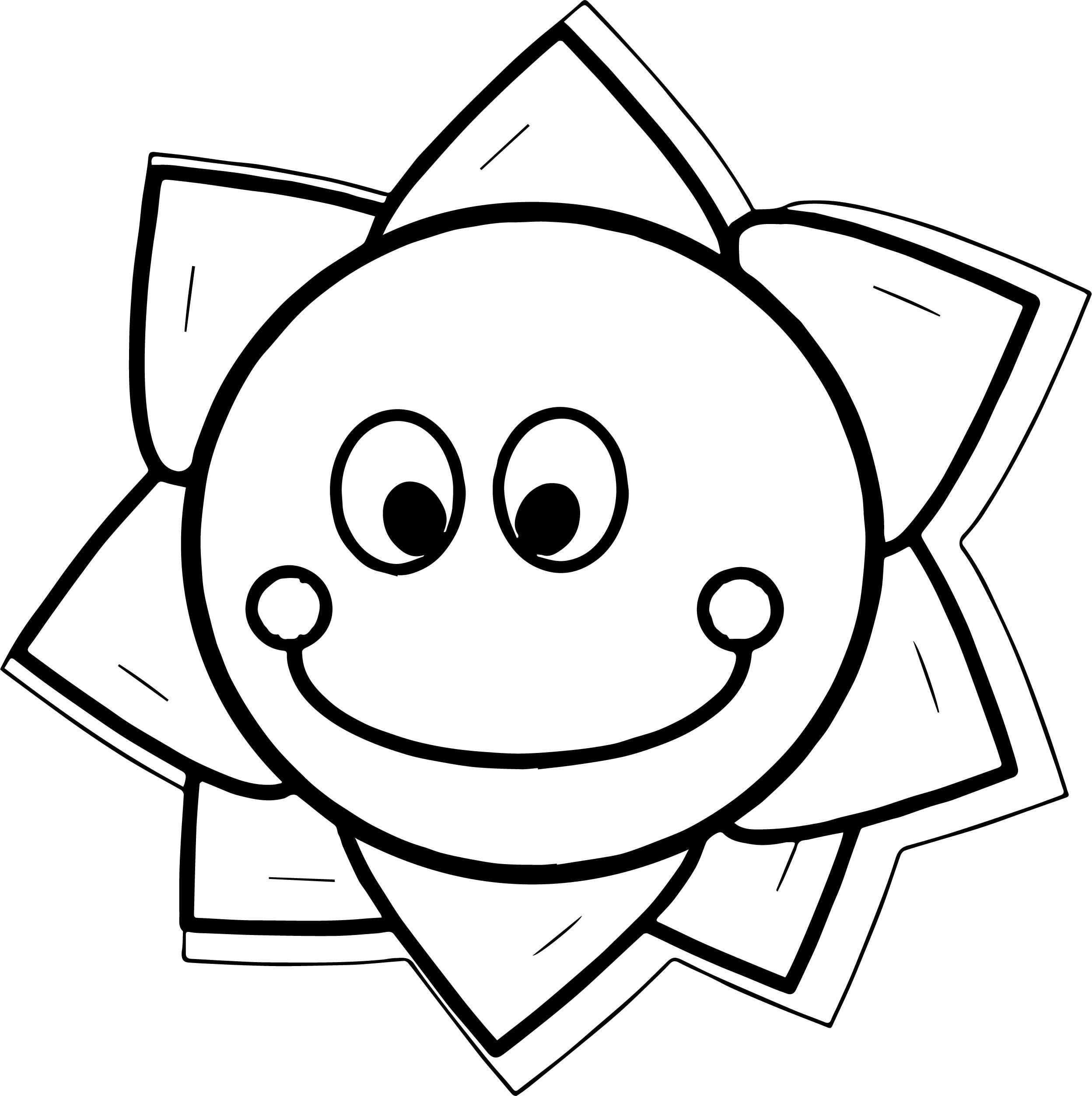 Cool Happy Star Flower Coloring Page With Images