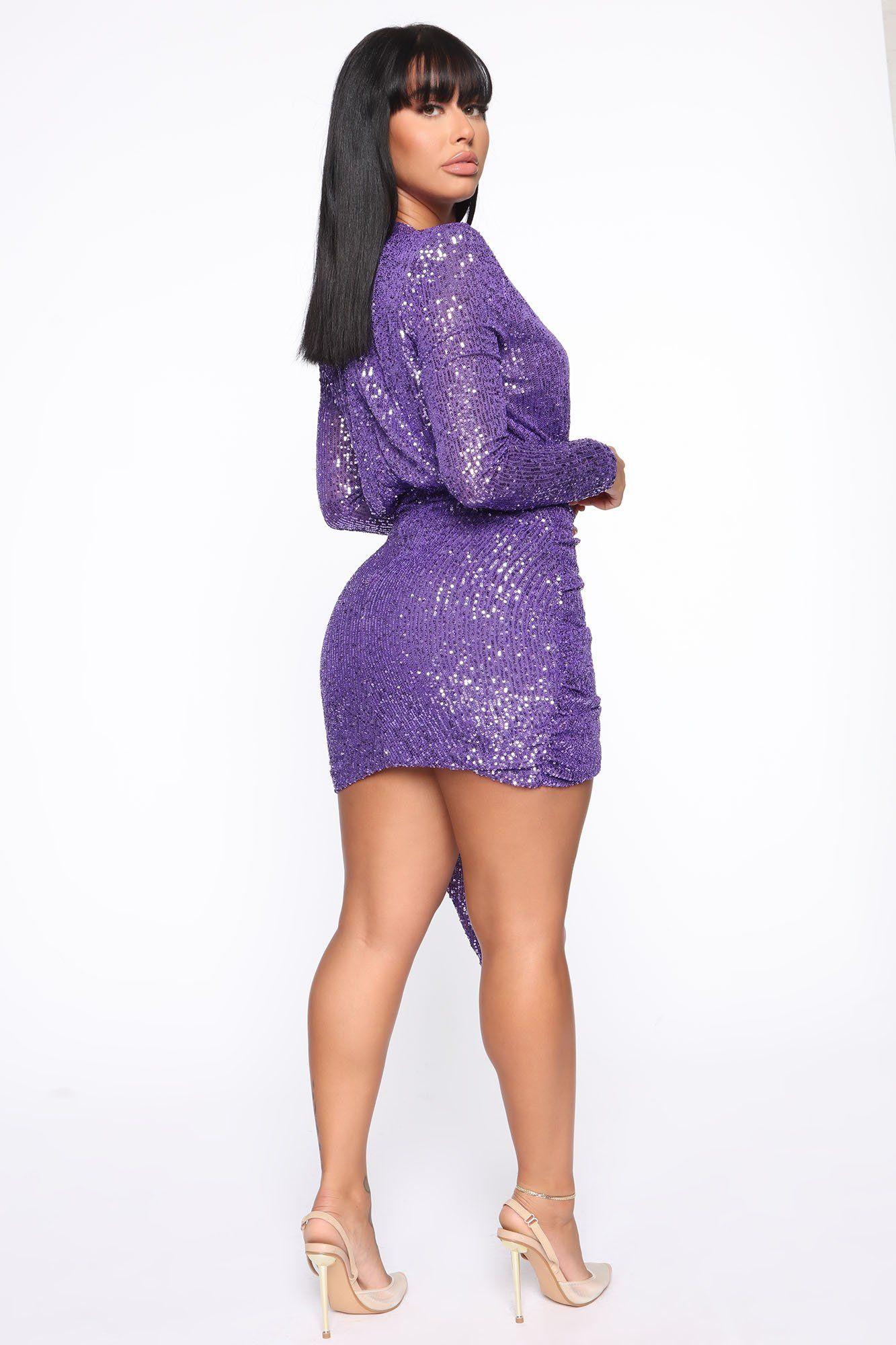 Center Stage Sequin Mini Dress Purple in 2020 Purple