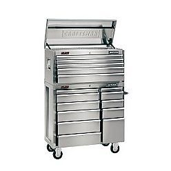 Only 448 602 Hmmmm 16 Drawers Sears Item 00910595000 Craftsman 41 Wide 5 Drawer Ball Bear Stainless Steel Tool Chest Stainless Steel Tools Cool Tools
