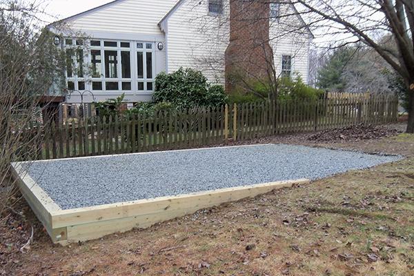 Eastern cedar shed bases landscaping ottawa yard for Garden shed floor ideas