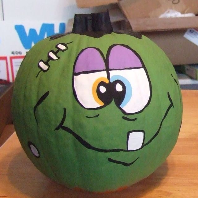So cute! I\u0027m all about decorating pumpkins in any way that