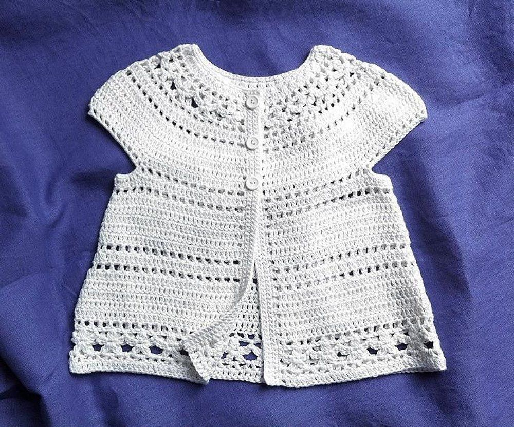 Gina - floral lace baby/child cardigan | tejido | Pinterest | Croché ...
