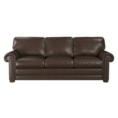 Westland And Birch Odessa Leather Sofa Upholstery Color Walnut Leather Sofa Bed Leather Sofa