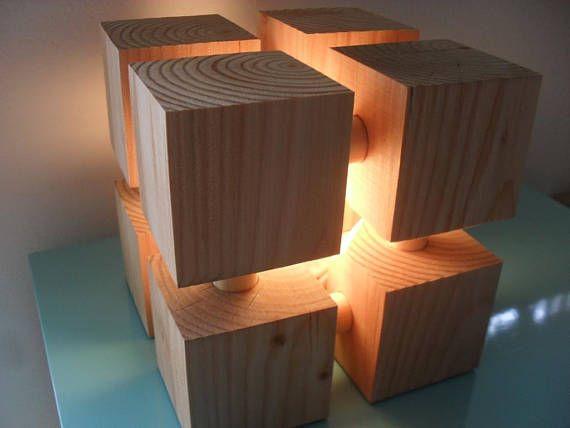 Handgefertigt, modernen Stil Holz Lampe - perfekt für einen - lampen fürs wohnzimmer
