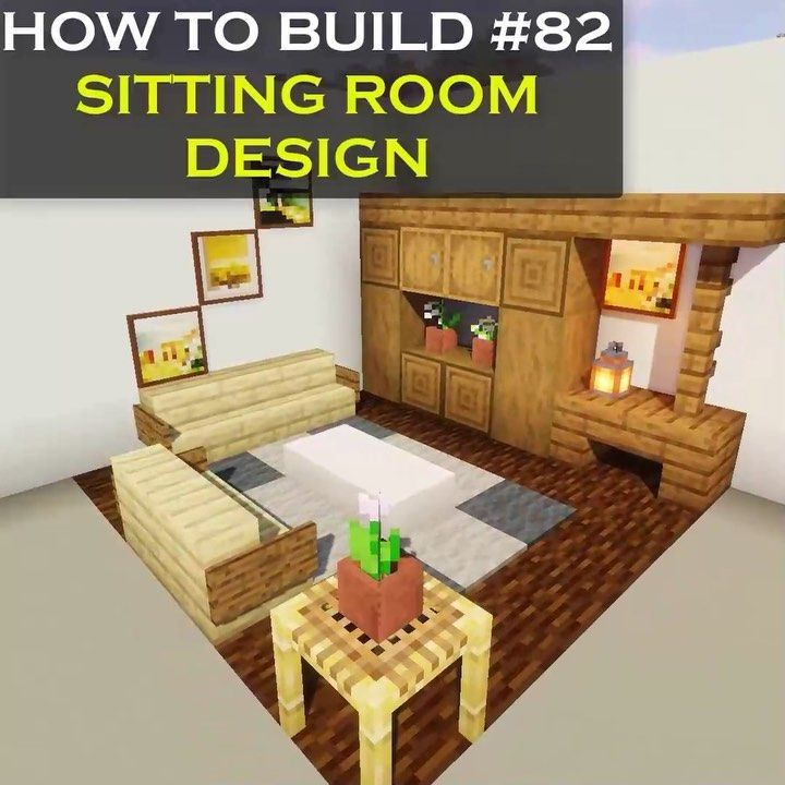 Vexelville On Instagram New Minecraft Interior Tutorial On How To Build A Simple Sitting Room Design I In 2020 Minecraft Room Minecraft Designs Minecraft Decorations