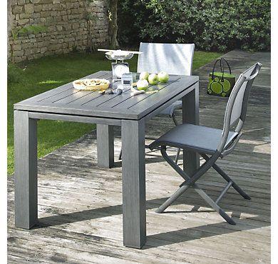 Table aluminium OCEO Latino 126 x 78 cm, Table de Jardin Camif | Camif