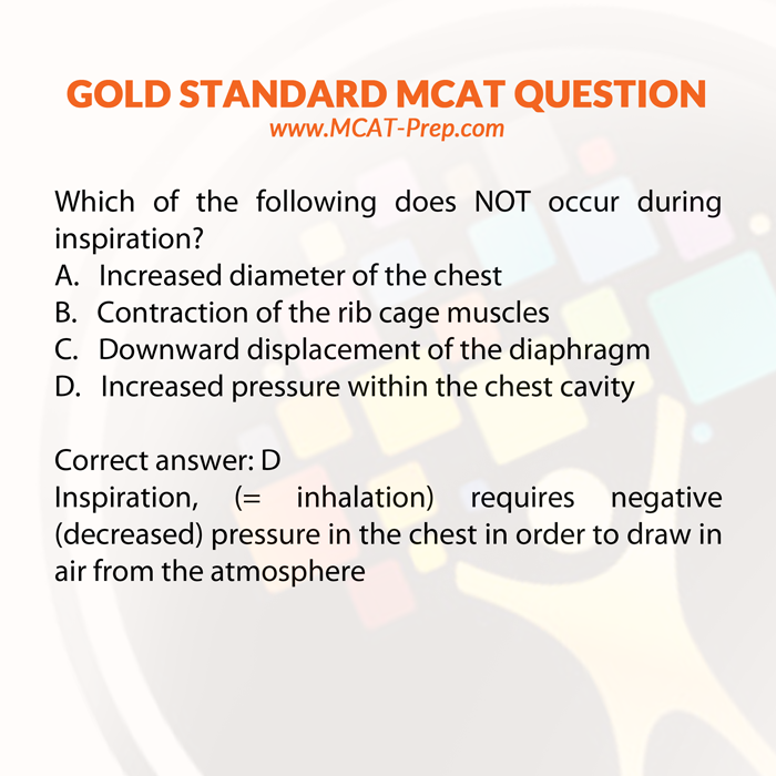 Gold Standard MCAT practice question from biology: Which of