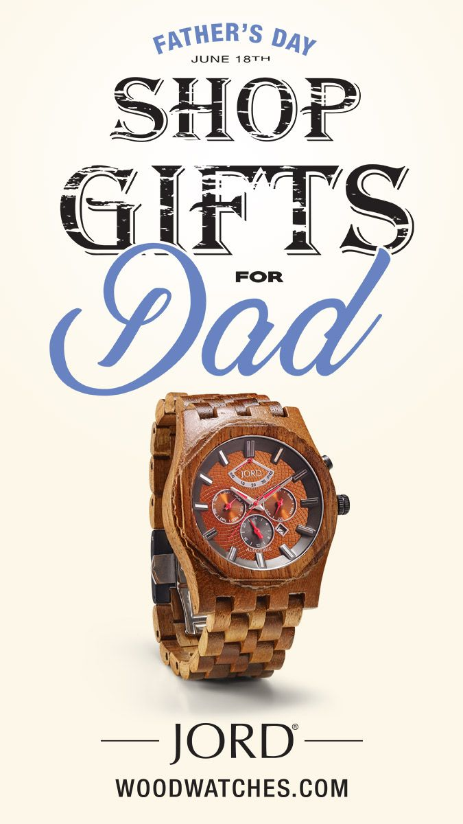Surprise Dad with a truly unexpected gift - a natural wood watch from JORD! Woods from around the world are hand-crafted to make quality cases and bands that are then outfitted with premium mechanical movements, creating a timepiece that is sure to leave him speechless. Sapphire crystal, a double deployment buckle closure, and a natural maple wood presentation box complete this perfect present! Find his JORD today at woodwatches.com - Free shipping in the U.S. , 1 year warranty.