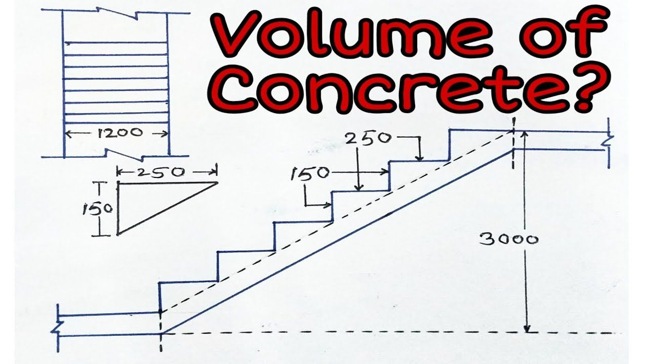 How To Calculate Volume Of Concrete In Staircase Engineering