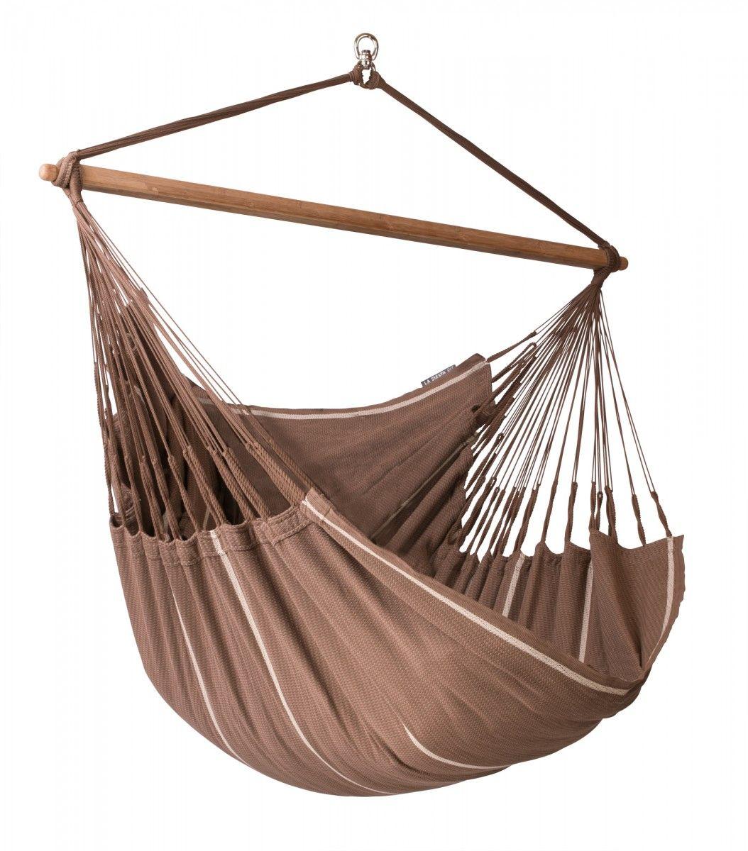 Habana chocolate organic cotton kingsize hammock chair