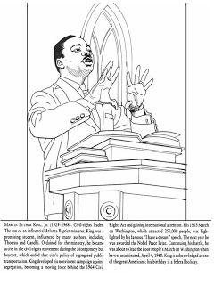 Martin Luther King Jr Coloring Pages Kindergarten Coloring Pages