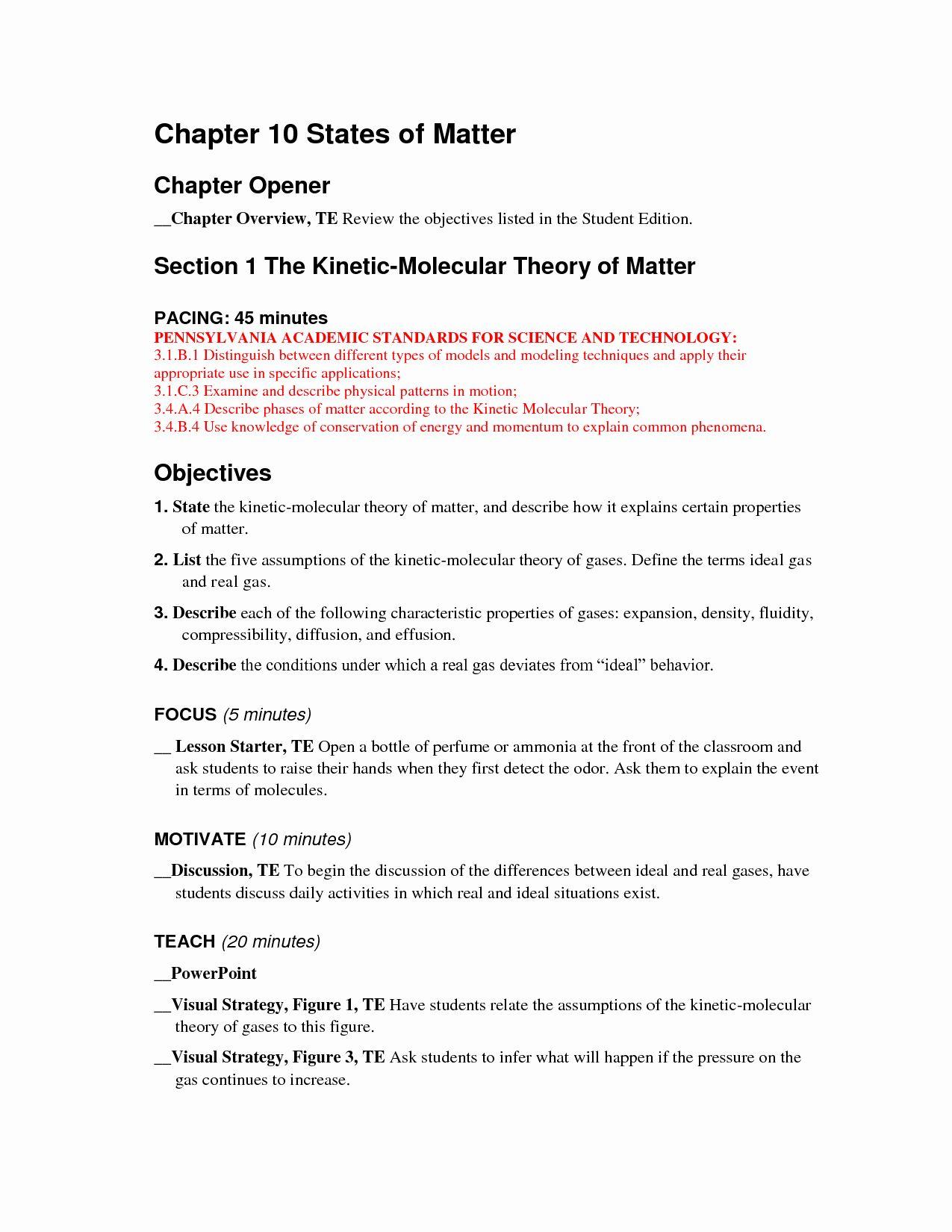 Classifying Matter Worksheet Answer Key Fresh 12 Best Of