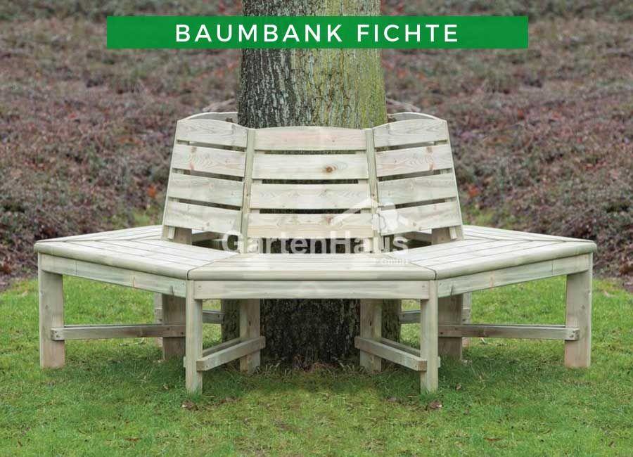 Gartenbank Baumbank Impragniert Fichte Baumsitz Bank Um Baume Baumbank