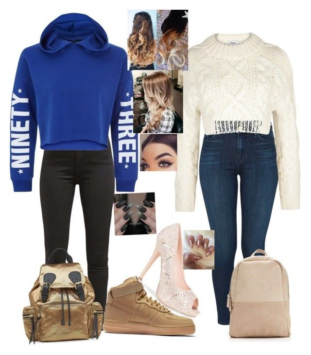 """""""Untitled #27"""" by abbiemiller-1 on Polyvore featuring J Brand, Levi's, DKNY, New Look, NIKE, Lauren Lorraine and Burberry"""