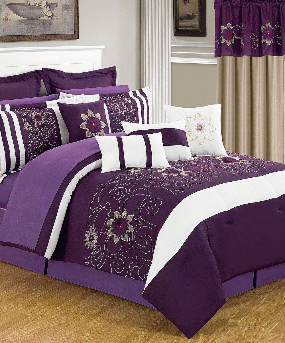 Plum Amp Violet Amanda Lavish Home Bedroom Set Daily Deals