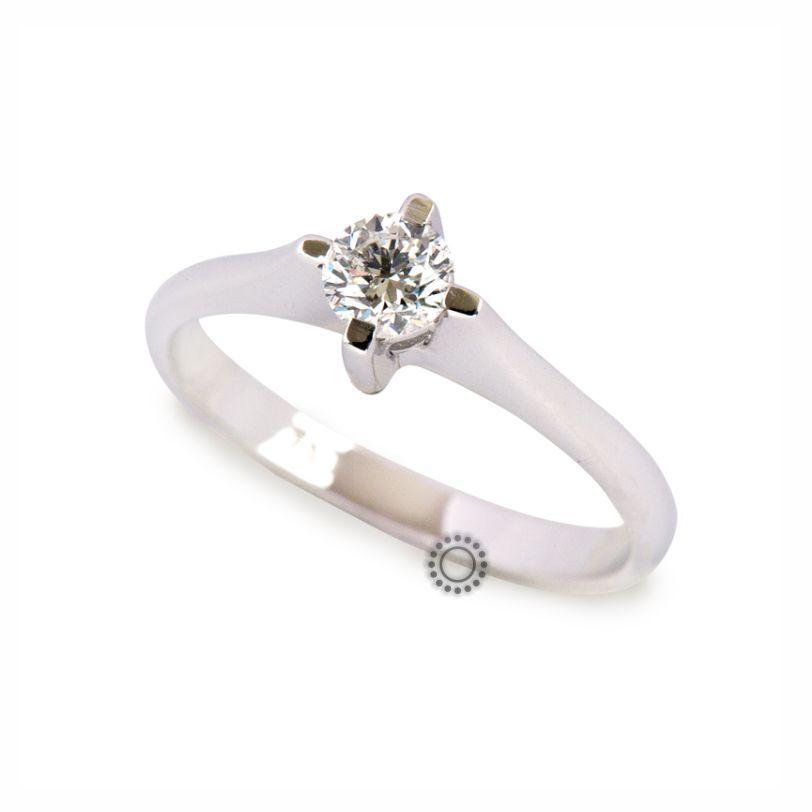 Μονόπετρο δαχτυλίδι με διαμάντι μπριγιάν από λευκόχρυσο σε 18 καράτια  b069f63723a