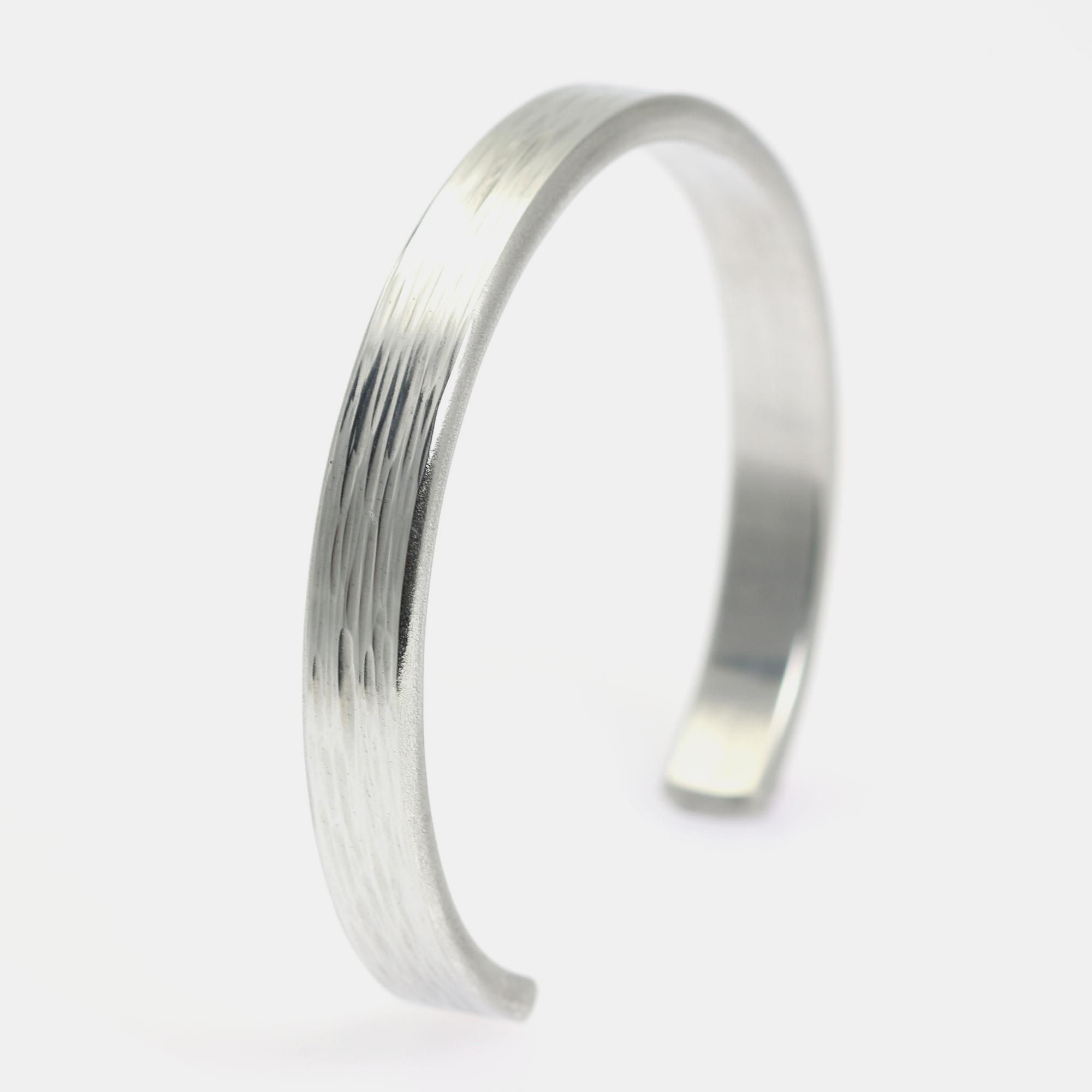 New awesome mm thin bark silver tone cuff bracelet offered by