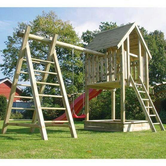 Joda Spielturm Ole Mit Schaukel Und Klettergerust Spielturm Diy Spielplatz Kinder Garten Spielen