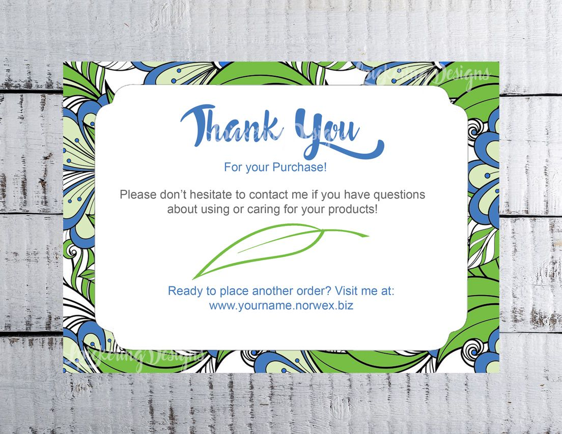 Personalized Thank you postcard for direct sales follow up!