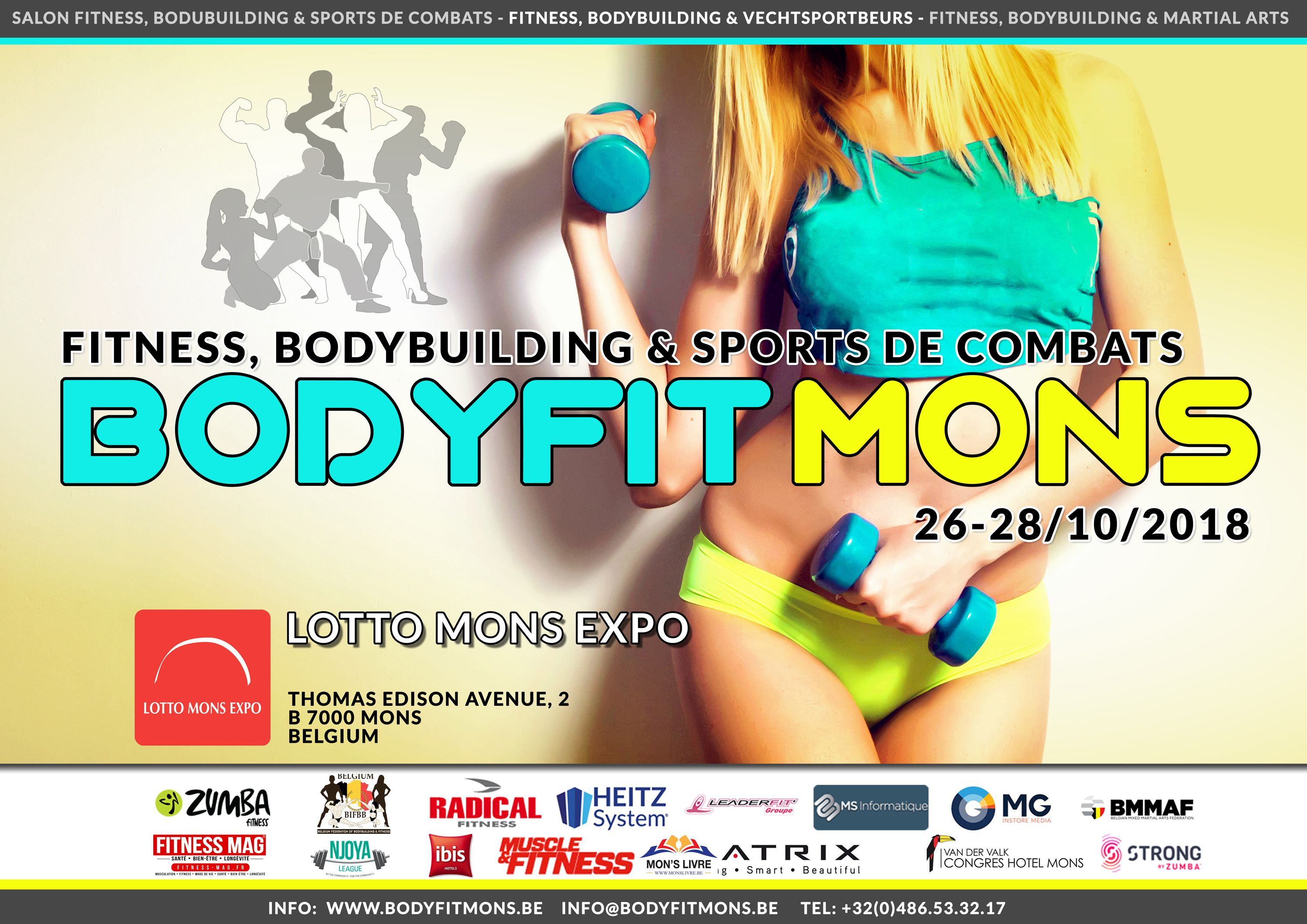 From 26 To 28 October 2018 The First Edition Of Bodyfit Mons Will Take Place At The Lotto Mons Expo In Mons Belgium It Will Be An Expo For Professionals And