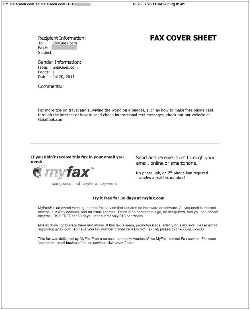 sample cover letter for faxing resume