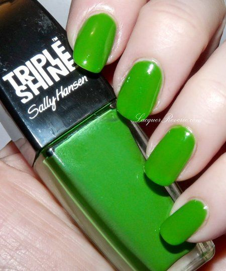 Sally Hansen Triple Shine Kelp Out #nails #nailart #green #polish - bellashoot.com