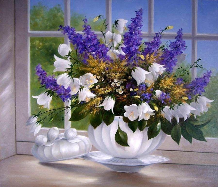 Одноклассники   Раскраска по цифрам, Картины, Цветы