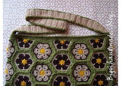Halve Zeshoek Haken African Flowers Crochet African Flowers En