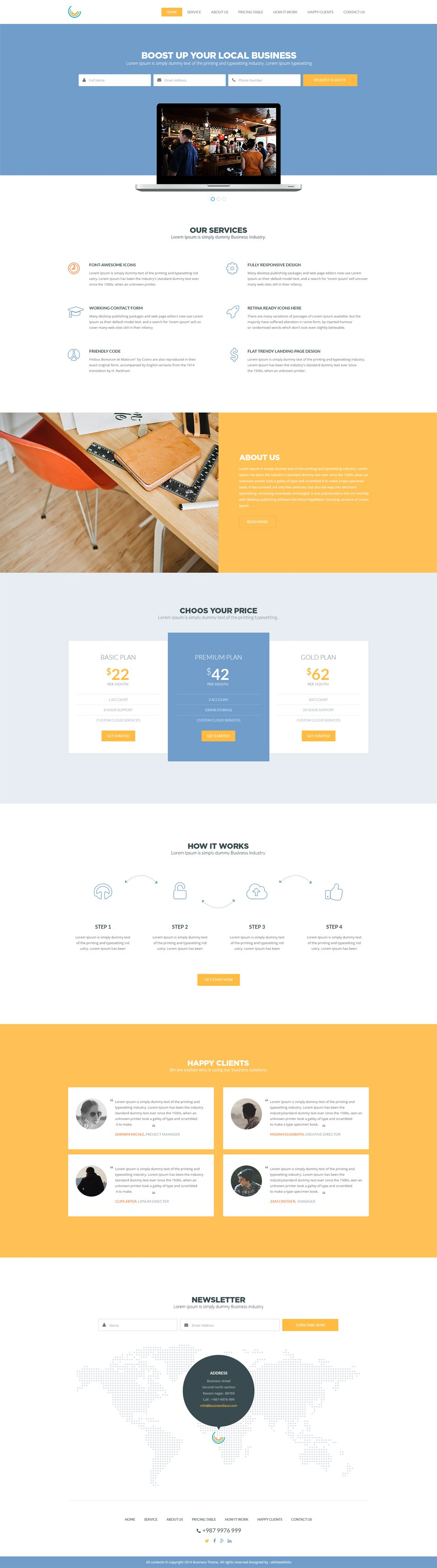 Business templates cssauthor website template psd business web template psd freebie no 153 a single page layout designed for business websites you can use this template for personal as well as accmission Gallery