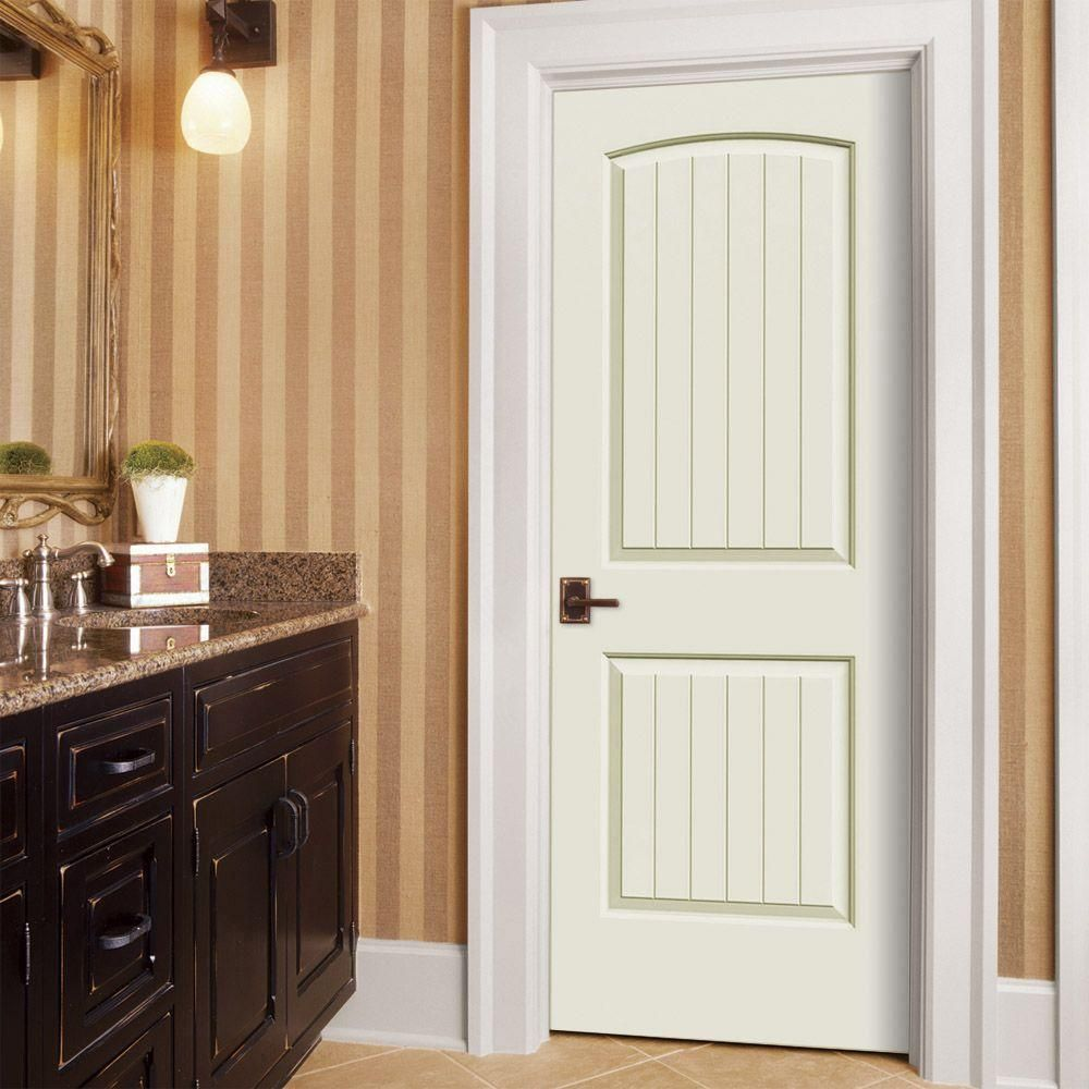 Jeld Wen 32 In X 80 In Santa Fe Vanilla Painted Right Hand Smooth Molded Composite Mdf Single Prehung Interior Door Thdjw137500645 The Home Depot Doors Interior Prehung Interior Doors Home Depot Interior
