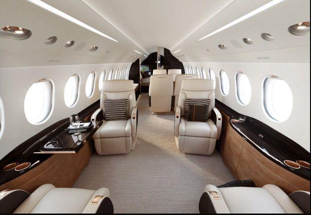 Falcon 8x Interior | Jets | Private jet interior, Private