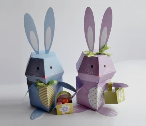 PAPERMAU: Easter Celebration - Easter 3D Bunny Paper Toys - by Brother