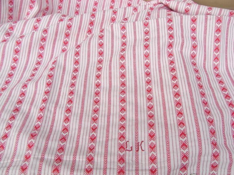 Antike Leinen Bettwasche Bezug Fur 1 Bettdecke 1 Kissen