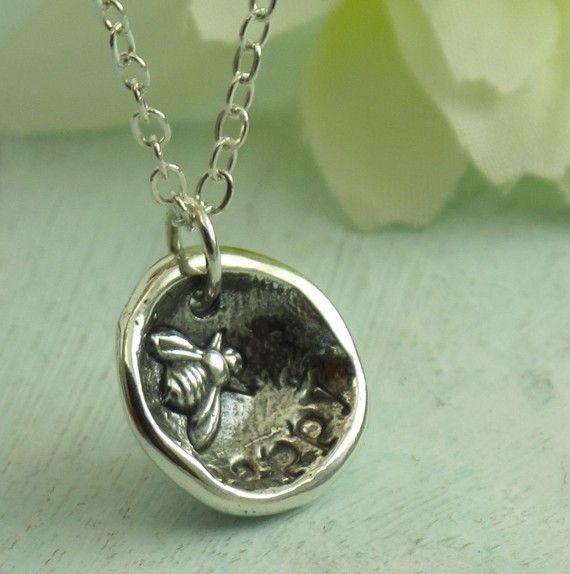 Bee Happy   sterling silver necklace by Kathryn by KathrynRiechert, $58.00